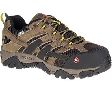 Men Moab 2 Vent Waterproof Comp Toe Work Shoe Wide